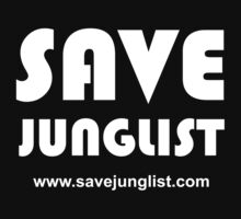 Save Junglist with url ... (white design on black) by waltex