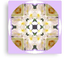 Frangipani Cross..Kaleidoscope Canvas Print