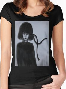 The Black Ribbon Updated Women's Fitted Scoop T-Shirt