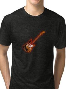 Funky Fender-Eguitar 70s Style Tri-blend T-Shirt