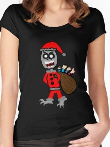 Demon Santa  Women's Fitted Scoop T-Shirt