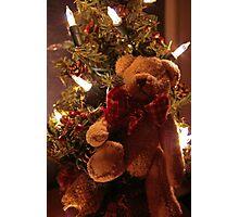 Teddy Bear Christmas Photographic Print