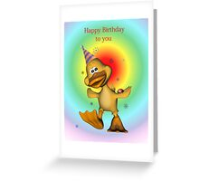 Happy Birthday Duckie card Greeting Card