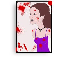 She couldn't control the rage inside Canvas Print