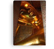 Reclining Buddha, Bangkok, Thailand Canvas Print