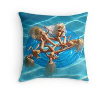 BARBIE FLOAT #27 Throw Pillow