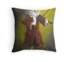 Wolfgang Amadeus Mozart - Cat Composer Violinist Throw Pillow