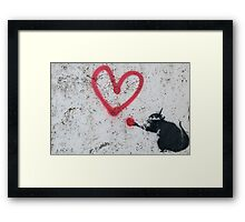 Love Rat Framed Print