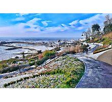 Snowy Lyme Regis Photographic Print