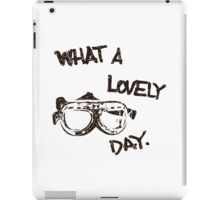 What a lovely day - black iPad Case/Skin