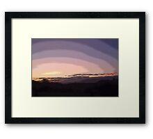 Purple Sunset #2 Framed Print
