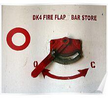 Fire Flap Poster