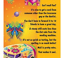 retro isn't mail fun? card by Mardra