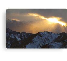 Sun peep Canvas Print