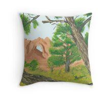 Window Rock Cedar ~ Oil Panting Throw Pillow