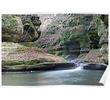 Illinois Canyon Waterfall Poster