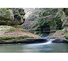 Illinois Canyon Waterfall Photographic Print