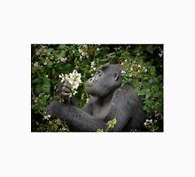 mountain gorilla eating flowers, Uganda Unisex T-Shirt