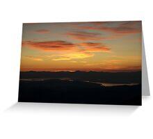 Dawn Atop Rocky Peak Ridge Greeting Card