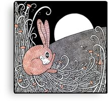 Full Moon Hare Canvas Print