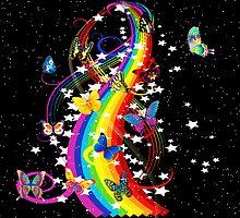 Butterfly Rainbow by Beatriz  Cruz