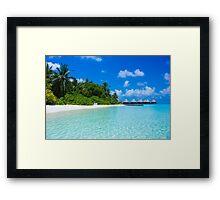 Honeymoon in the Maldives Framed Print
