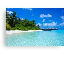 Honeymoon in the Maldives Canvas Print