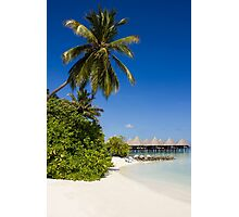 Water Villas in the Maldivian Atolls - Eden on Earth Photographic Print