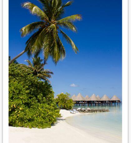 Water Villas in the Maldivian Atolls - Eden on Earth Sticker