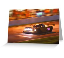 Britcar into the Night Greeting Card