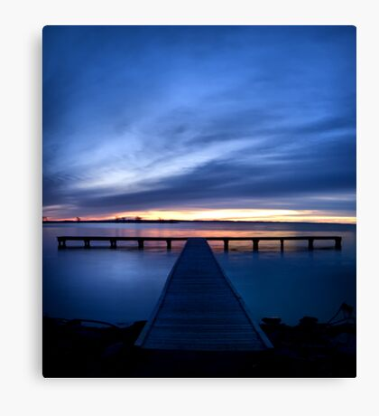 Pier at Millers Bay Canvas Print