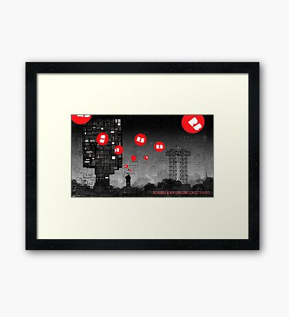 Red Bubble Poster !  Framed Print