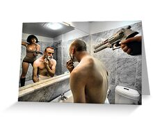 Hearts At War - The Obstacles Close Shave With Destiny Greeting Card