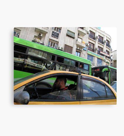 Green driving Canvas Print