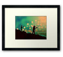 Dusk Fishing Framed Print