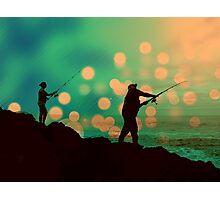 Dusk Fishing Photographic Print