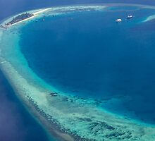 The Maldives North Ari Atolls from above, Eden on Earth by Digital Editor .