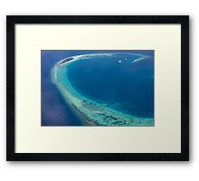 The Maldives North Ari Atolls from above, Eden on Earth Framed Print