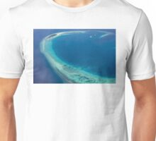 The Maldives North Ari Atolls from above, Eden on Earth Unisex T-Shirt