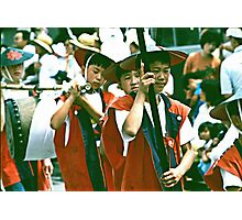 Colorful Festive Costumes And Solemn Faces. Photographic Print