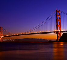 Glowing Golden Gate by Ann J. Sagel
