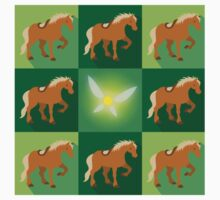 Abstract Epona on a field of green One Piece - Short Sleeve