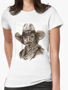 Tom Selleck Womens Fitted T-Shirt