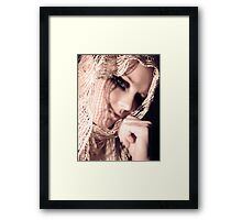 not sad....just thinking Framed Print