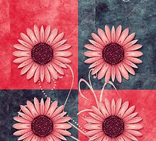 daisies quatuor_card_03v13b by 1001cards