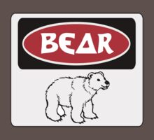 POLAR BEAR, FUNNY DANGER STYLE FAKE SAFETY SIGN Kids Clothes