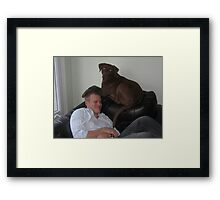 Nes and her Dad Framed Print