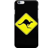 KANGAROO AUSTRALIAN ROAD SIGN iPhone Case/Skin