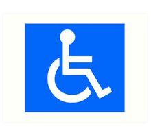Disabled Access Symbol Art Print