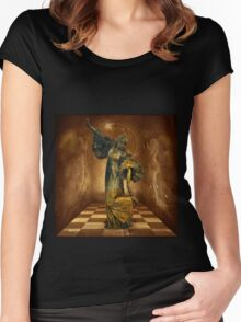 Dancing with Angels Women's Fitted Scoop T-Shirt